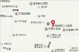 医院位置与交通路线图