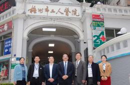 广西医科大学校长赵劲民一行到梧州市工人医院讲学